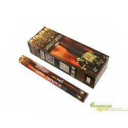 Благовония Neem Sandal Cinnamon Shree Vani 22г прямоугольник, древесно сандаловый аромат
