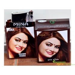 Краска для волос Mina Brown на основе хны, 10 г., Тёмно-коричневая