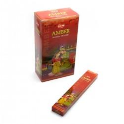 Благовоние пыльцовое Amber Masala Small Box Hem, (Янтарь)