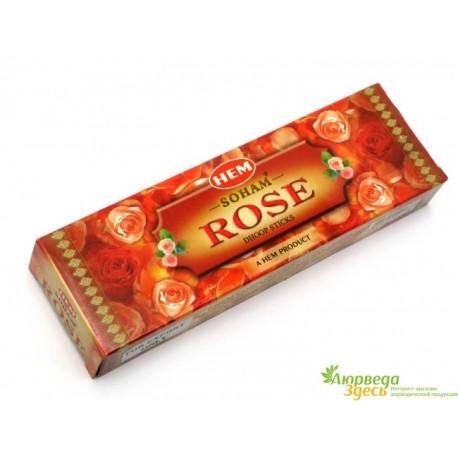 Безосновные благовония HEM Rose Soham, (Роза)