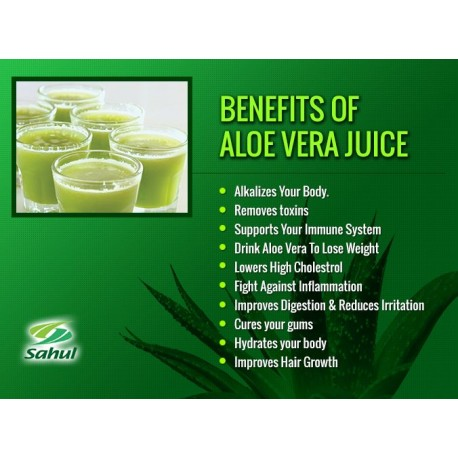 Сок Алоэ Вера с мякотью Aloe Vera Juice, Сахул (Sahul), 500мл