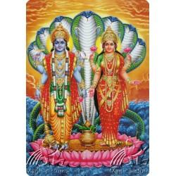 Магнит с изображением Шри Лакшми и Шри Вишну