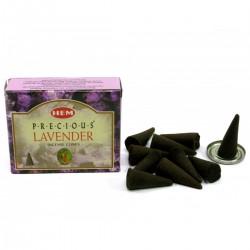 Благовоние безосновное Драгоценная Лаванда, ароматические конусы, Precious Lavender Cones, яркий аромат Лаванды.