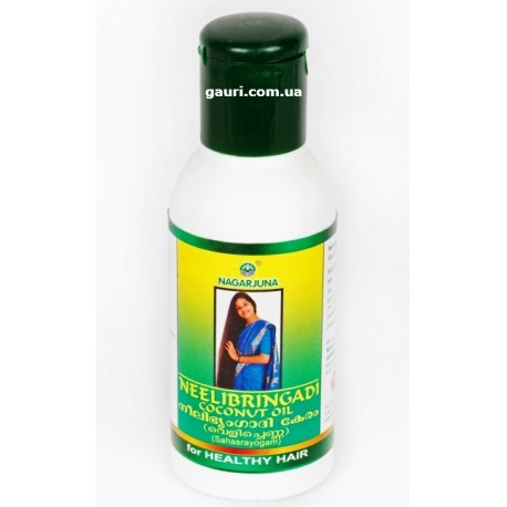 Масло для волос Нилибрингади Нагарджуна, Neelibhringadi Coconut Oil Nagarjuna, 200мл