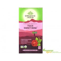 Чай Тулси Сладкая Роза, Органик Индия, Tulsi Sweet Rose, Organic India.