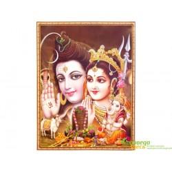 """Постер """"Индийские Боги"""" 49*70см. Шри Хануман Дурга Шива Jothi 8623."""