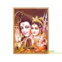 "Постер ""Индийские боги"" 49*70см. Шри Шива Парвати Ганеш."