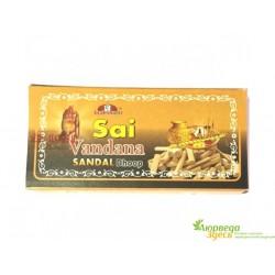 БЛАГОВОНИЕ БЕЗОСНОВНОЕ Sai Vandana Sandal Dhoop (10/УП) с насыщенный ароматом Сандала.