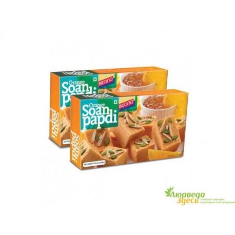 Соан Папди популярные Индийские сладости, Вегетарианские конфеты, Soan Papdi Haldiram Premium