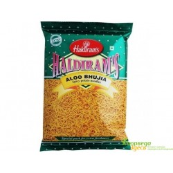 Закуска Алу Бхуджия, Haldiram's Aloo Bhujia 200г. острый индийский снек.