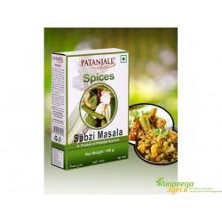 Сабджи Масала 100 г Sabji Masala, Patanjali Sabzi Masala, натуральная приправа для овощей.