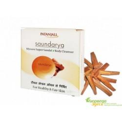 Мыло Майсурский Супер Сандал Патанджали Аюрведа, Divya Patanjali Saundarya Mysore Super Sandal Body Cleanser.