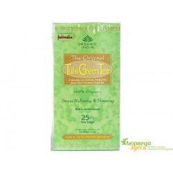 Чай органический Тулси, Базилик - Зелёный чай - Organic India, Tulsi-Green Tea