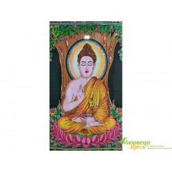 Панно Боги УТ-00002470, 80х108 ручная работа, Шри Будда, Аюрведа в Украине!