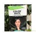 Краска для волос Колор Мейт Чёрная с аюрведическими травами, Color Mate Herbal Based Ammonia Free Hair Color With Ayur Produc.