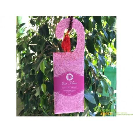 Саше ароматическое Цветы Розы Сонг оф Индия, 20 г., Song of India Hanging Sachet with Paisley Design Rose Flowers, Аюрведа!
