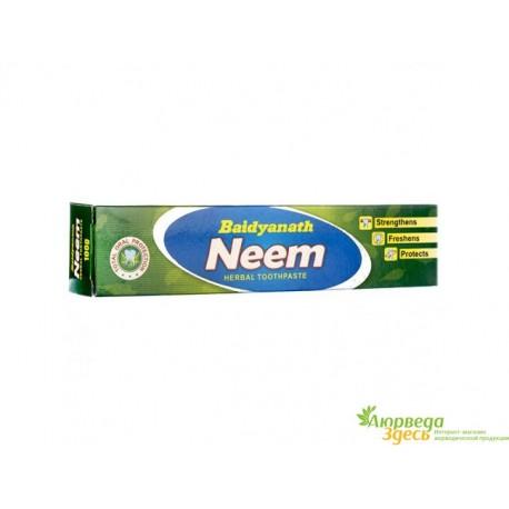 Зубная паста Ним Байдьянатх Аюрведа 50г, Baidyanath Neem Toothpaste, Индия, Аюрведа Украина!