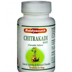 Читракади бати таблетки для пищеварения от компании Бадьянатх, Chitrakadi Bati Baidyanath, 80 таблеток