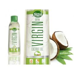 Кокосовое масло Нирмал Вирджин KLF Nirmal Virgin Coconut Oil пищевое и для волос и тела, источник 100% натуральной красоты!