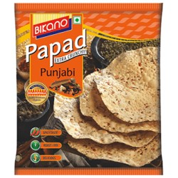 Папад или Пападам, Индийские лепёшки, Urad Papad Haldiram's, 200грамм