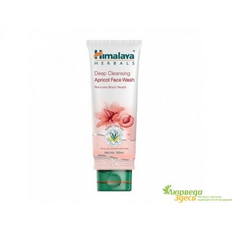 Гель для умывания Абрикос Алоэ отшелушивающий, 100 мл, Himalaya Herbals Apricot Face Wash whit Aloe Vera, Аюрведа