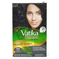 Краска Dabur VATIKA Naturals Глубокий Чёрный для волос на основе натуральной Хны