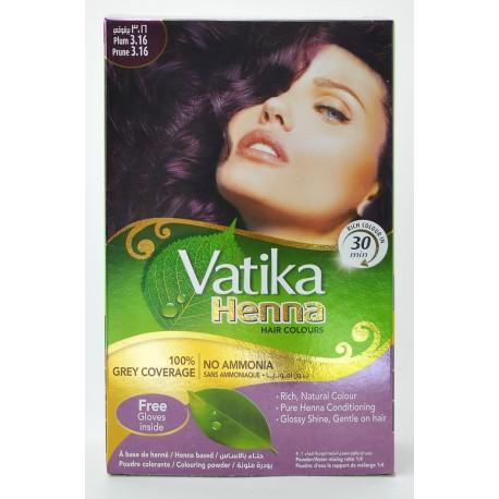 Краска для волос Dabur VATIKA Naturals Шатен на основе натуральной Хны, Аюрведа