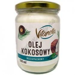 Кокосова Олія Вітанелла Vitanella Olej Kokosowy 500 мл. харчова а також для волосся та тіла, Аюрведа
