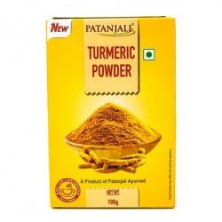 Куркума молотая, коробка, 100г. Патанджали, Aarogya Spices Turmeric Powder, Patanjali.
