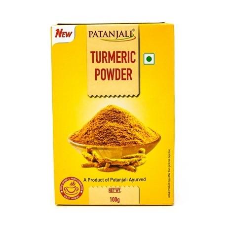 Куркума мелена, 100г. Патанджалі, Aarogya Spices Turmeric Powder, Patanjali, Аюрведа