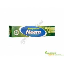 Зубна паста Нім Байдьянатх 100г, Baidyanath Neem Toothpaste, Индия, Зубная паста Ним Байдьянатх, Аюрведа