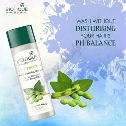 Шампунь для окрашенных и повреждённых волос, Био Соевые Белки, Biotique Bio Soya Protein FRESH BALANCING CLEANSER For Color