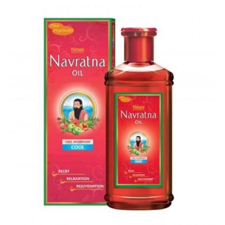 Масло Навратна, для головы, волос и массажа тела, Navratna Oil, 100мл