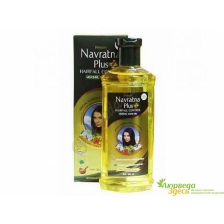 Масло против перхоти Навратна плюс охлаждающее, Himani Navratna Oil Plus Anti Dandruff Oil