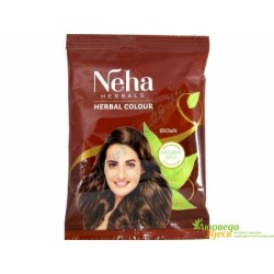 Хна для волос Коричневая с медным оттенком, Neha Herbal Brown, 30грамм
