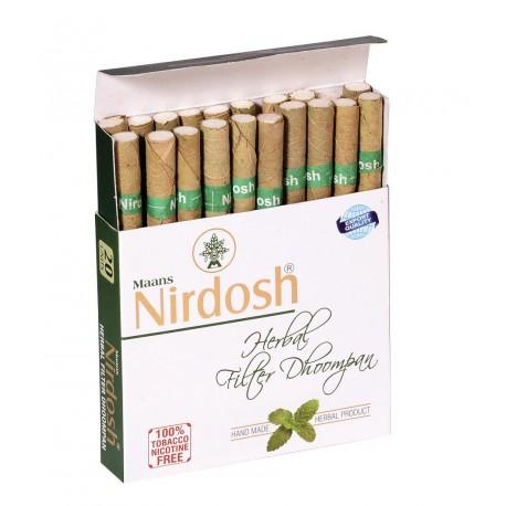 Аюрведические сигареты Нирдош, ингалятор, травяные, 20 штук, Nirdosh, Herbal Cigarettes, Аюрведа GAURI,