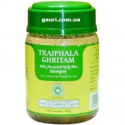 Трифала Гритам, лечение близорукости, дальнозоркости, катаракты, глаукомы, общей слабости, Triphala Ghritam, Kottakkal, 200мл