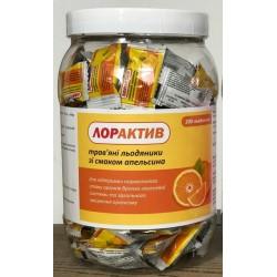 Трав'яні льодяники зі смаком Апельсину 200 шт., Лорактів, Loractive, Аюрведа,