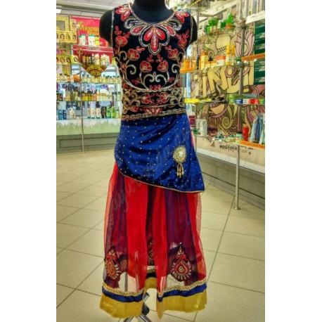 Костюм Anarkali Heer чёрный, шикарный восточный костюм, Индия!