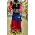 Костюм дитячий індійський святковий Червоно-чорний №2, Костюм детский индийский праздничный, Аюрведа,