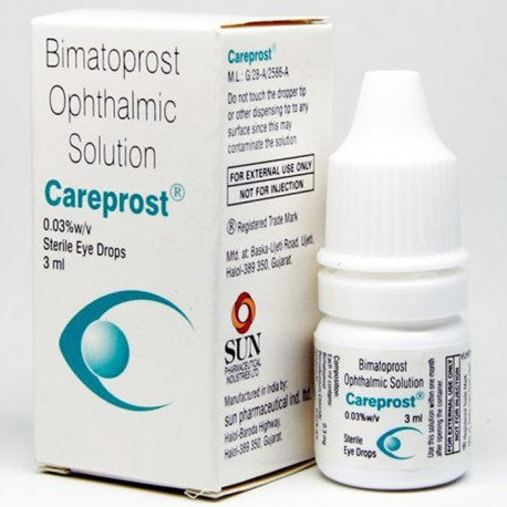 Карепрост, Careprost, наращивание ресниц в домашних условиях, (bimatoprost ophthalmic solution) 0.03% 3 мл.